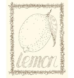 Lemon and Leaves vector