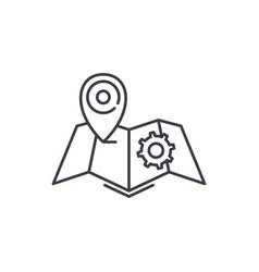 logistics line icon concept logistics vector image