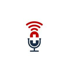 medical podcast logo icon design vector image