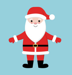 merry christmas santa claus wearing red hat vector image