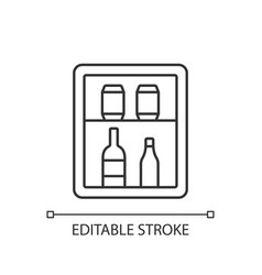 Mini bar linear icon vector