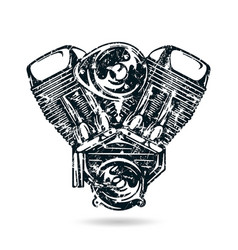 Motorcycle engine vector