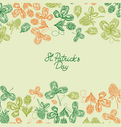 natural saint patricks day greeting poster vector image