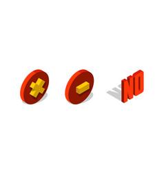 No check delete or remove mark 3d isometric icon vector
