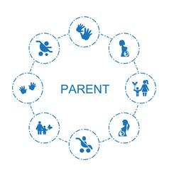 Parent icons vector