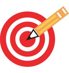 Pencil target vector image