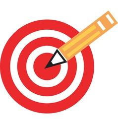 pencil target vector image
