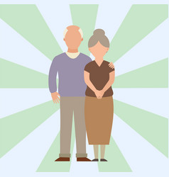 people happy love senior couple cartoon vector image