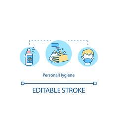Personal hygiene concept icon vector