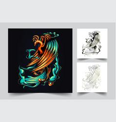 phoenix artwork vector image