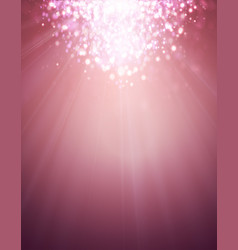 Pink glamour lights on soft background with bokeh vector