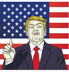 portrait donald trump 45th president vector image