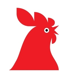 Red rooster mascot vector