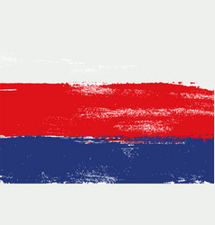 russia colorful brush strokes painted flag vector image