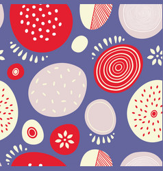seamless abstract pattern with circles for vector image