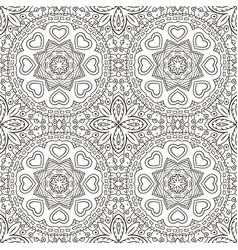 Seamless doodle pattern ethnic motives zentagl vector