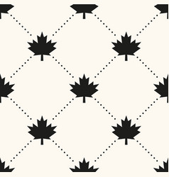 seamless geometrical pattern with maple vector image