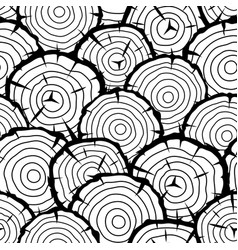 Seamless pattern with wood stumps background for vector