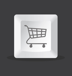 shoppping key computer vector image