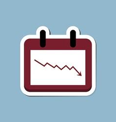 Stock crisis with calendar vector