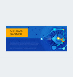 template of abstract horizontal banner vector image
