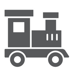 train toy glyph icon child and railroad vector image