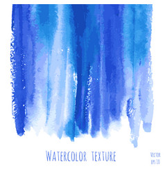 turquoise blue indigo watercolor texture vector image vector image