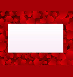 valentines day love background template vector image