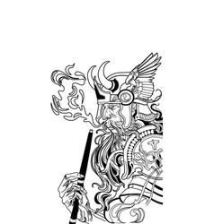 viking smoking a hookah vector image