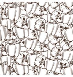 Vintage pepper seamless pattern vector