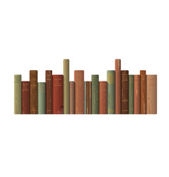 a row of old books vector image vector image