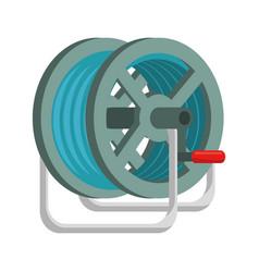 hose rolled up vector image
