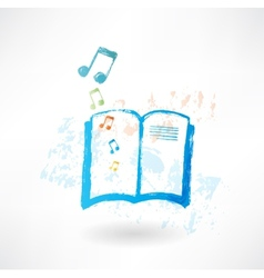 Music book grunge icon vector image vector image
