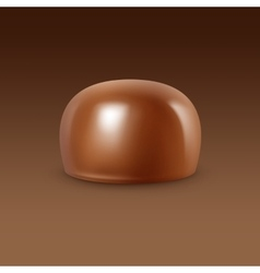 Realistic milk chocolate candy isolated vector