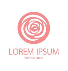 rose logo design template vector image vector image