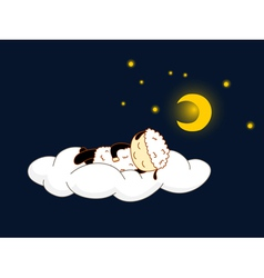 sheep sleeping vector image vector image