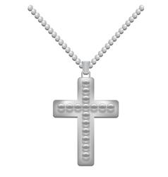 Silver Cross vector image