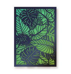 summer foliage laser cut greeting card vector image vector image