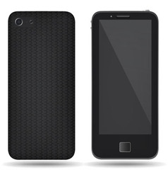 Carbon back cover smartphone vector image vector image