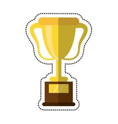cartoon trophy award sport icon vector image vector image