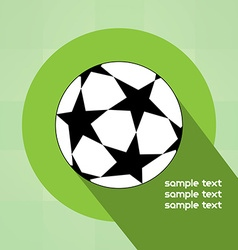 Champions league ball with starts vector image vector image