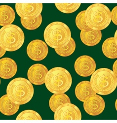 dollar coins background vector image