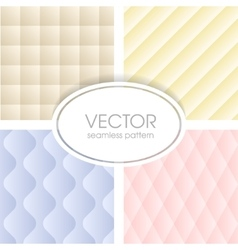 Geometrical seamless pattern collection vector image vector image