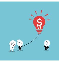 Lightbulb Business Balloon Idea vector image vector image