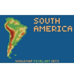 pixel art style map of south america contains vector image vector image