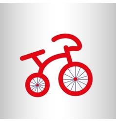 Red retro bicycle icon vector image