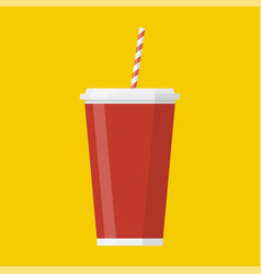 soda paper cup icon vector image
