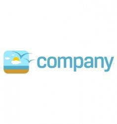 beach logo vector image vector image