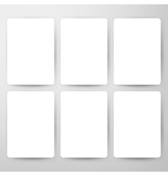 Blank Cards Mockup Template vector image vector image