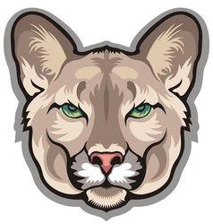 Cougar mascot vector image